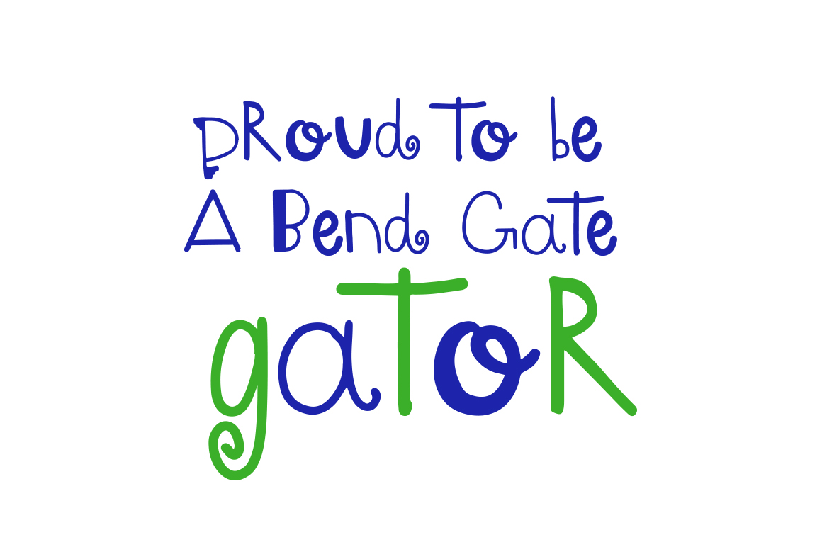 Gator -  A font by kids, for kids example image 2