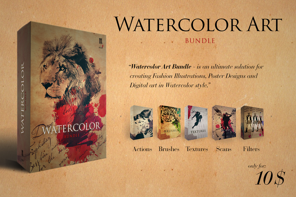 Watercolour Art Bundle example image 1