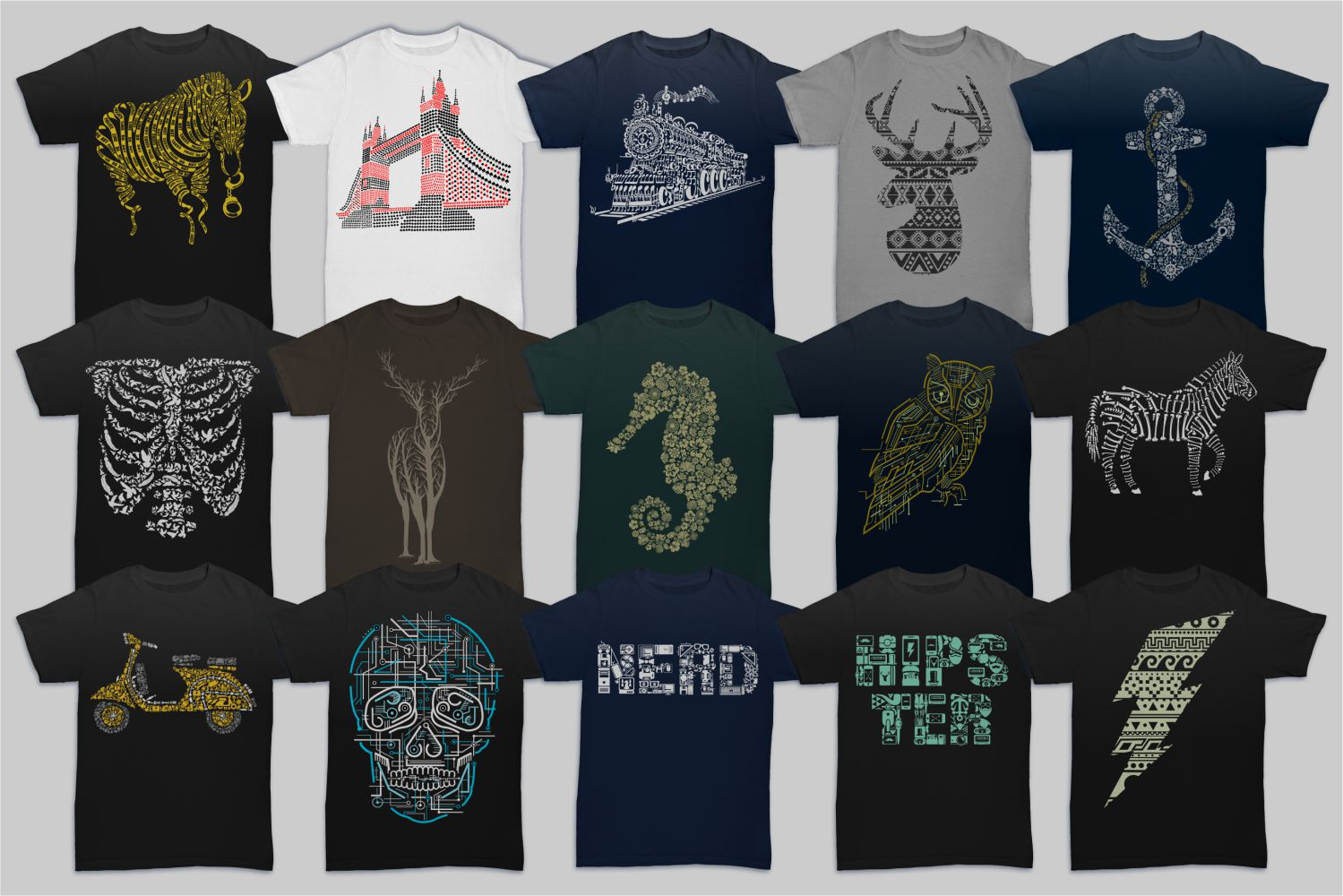 Tshirt Designs Mega Bundle Pack 1 + Pack 2 example image 3