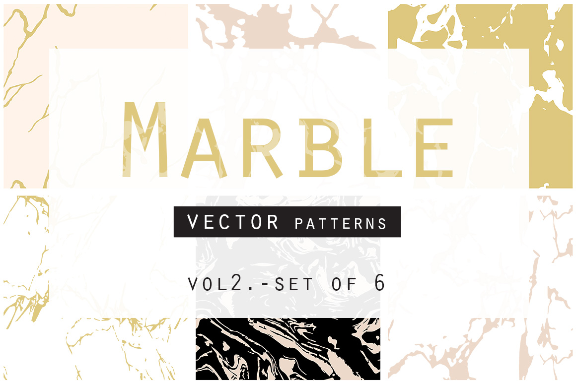 Marble Seamless Vector Patterns example image 1