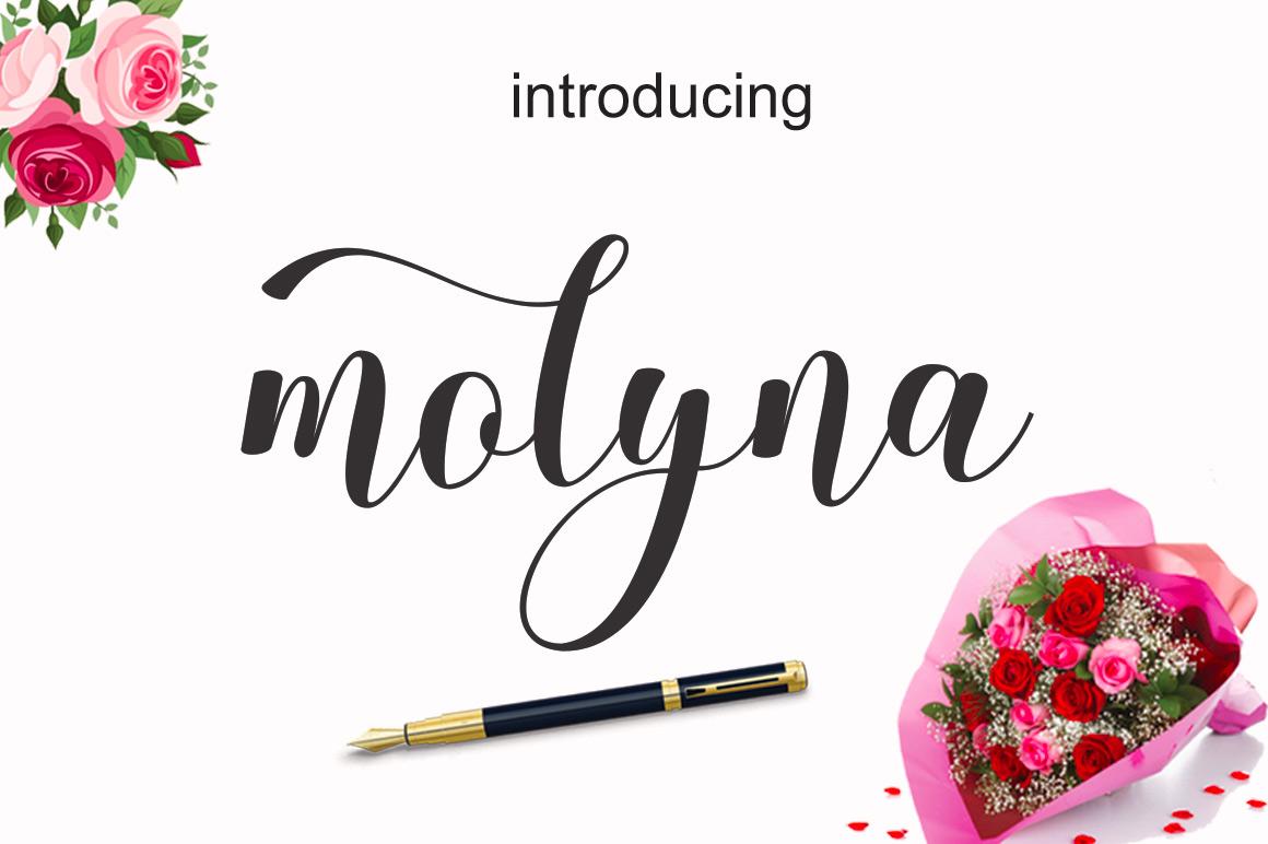 Molyna font bundles molyna example 1 kristyandbryce Choice Image