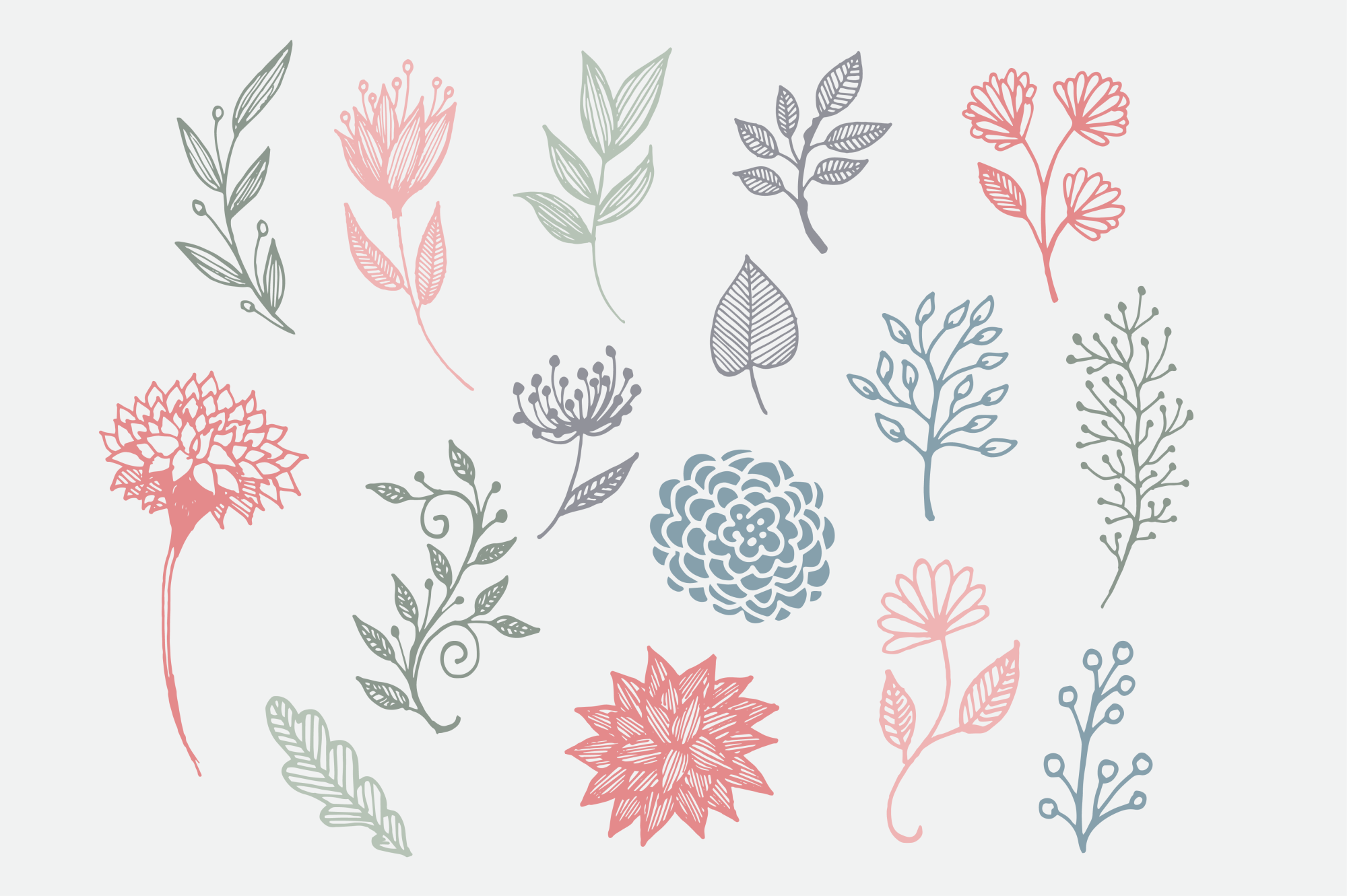 Hand Drawn Florals for Crafters example image 2