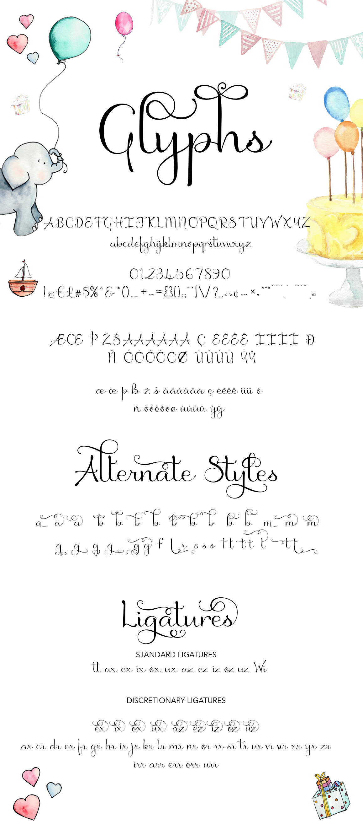 Birthday Script Font example image 7