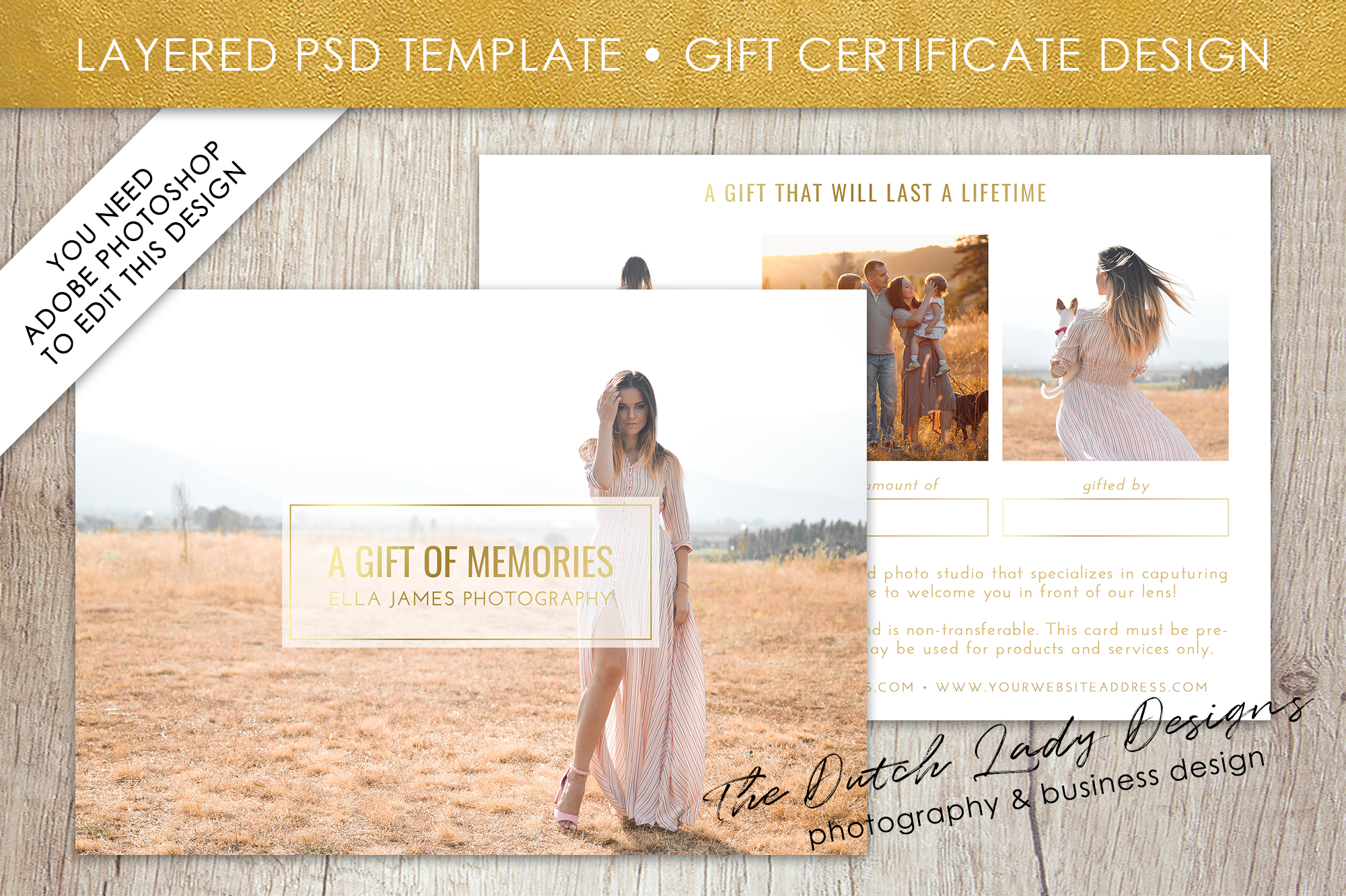 photo gift card template for adobe photoshop layered psd template design 31 example