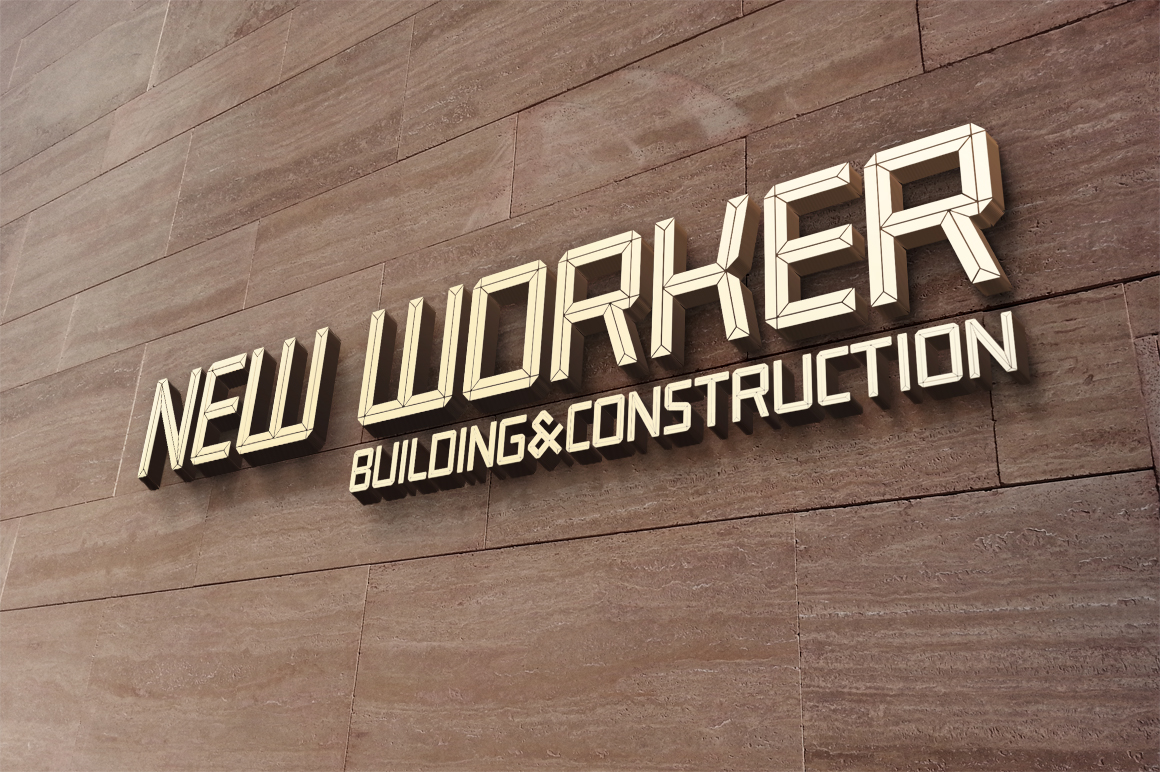 Construct family font example image 14