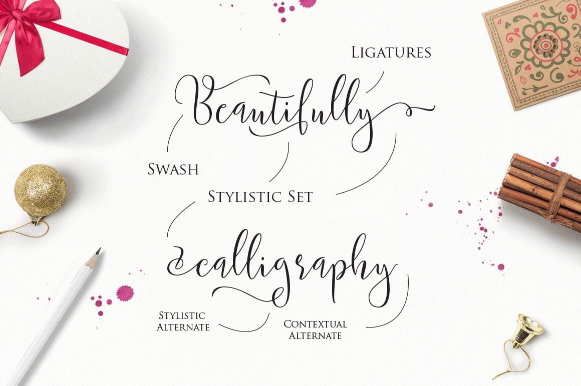 Modern Calligraphy Typeface Handmade Script