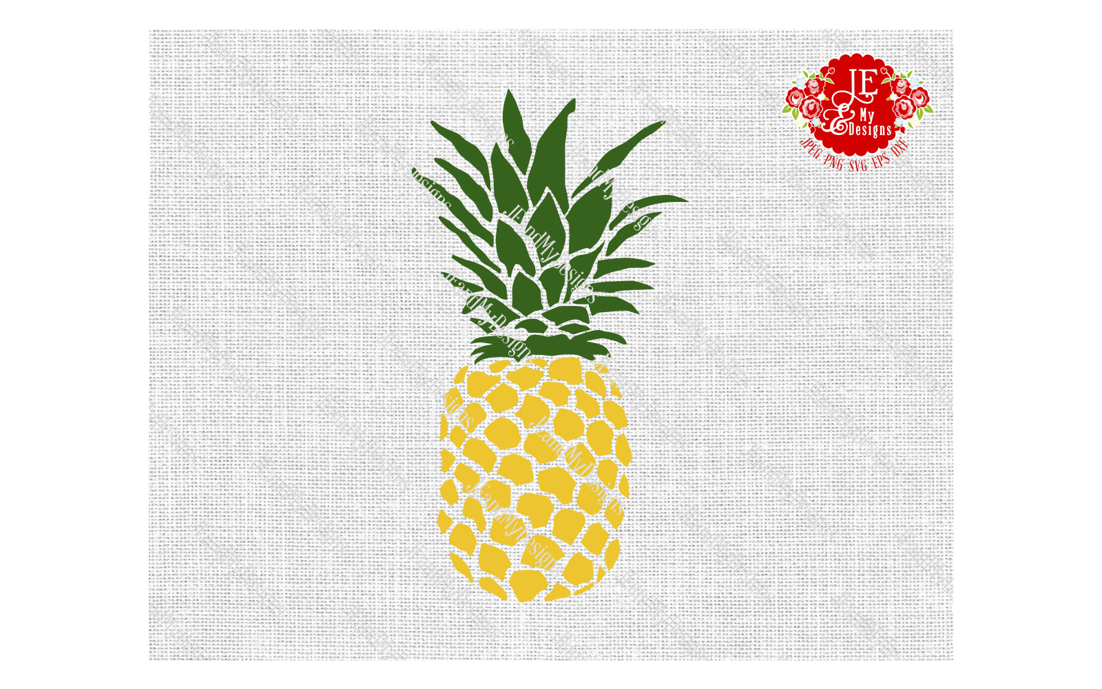 Golden Pineapple SVG, JPEG, PNG, EPS, DXF example image 5
