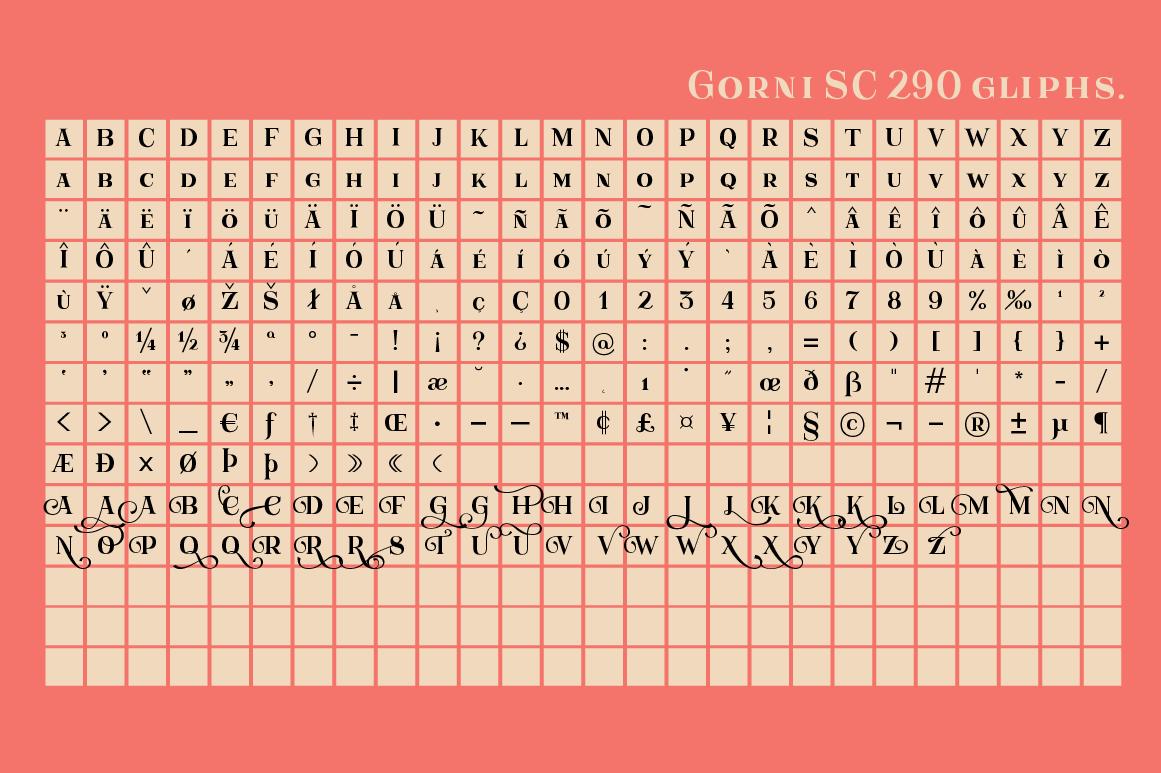 Gorni Typeface example image 7