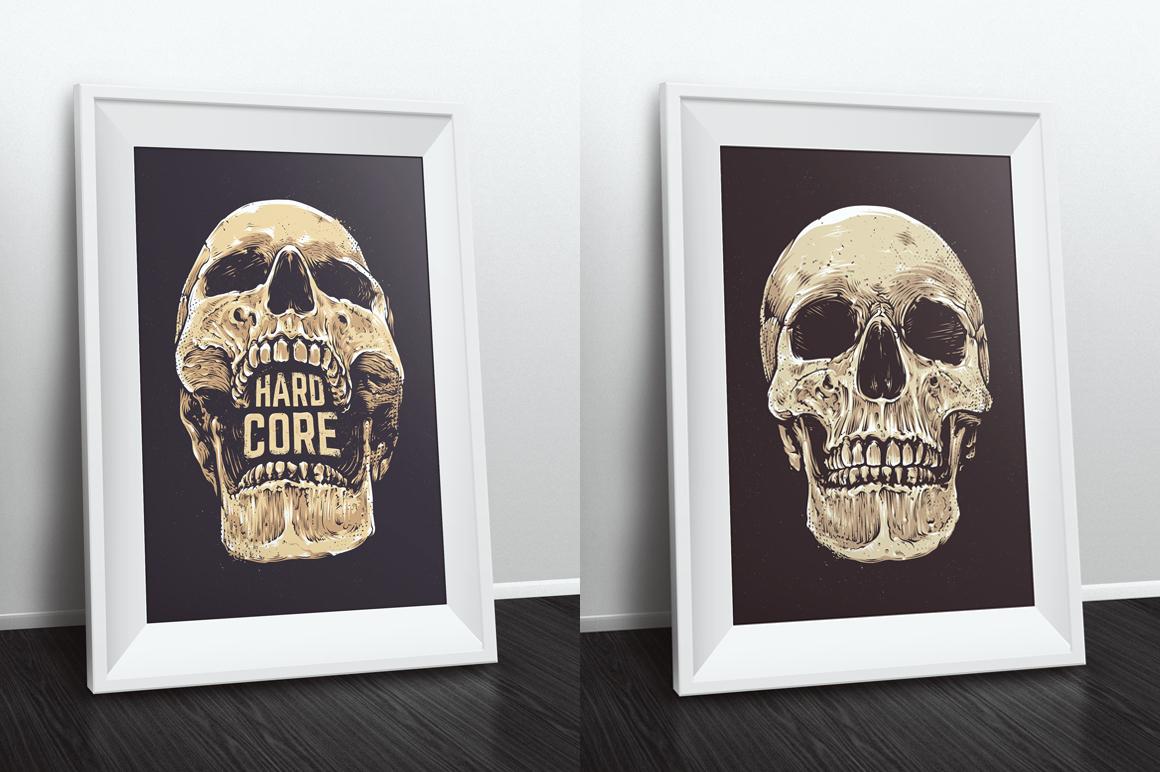 Anatomic Skulls | Vector Pack example image 10