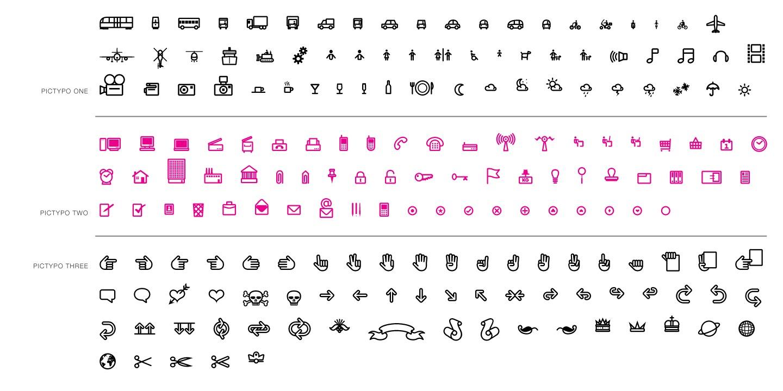 Pictypo typeface layout 1