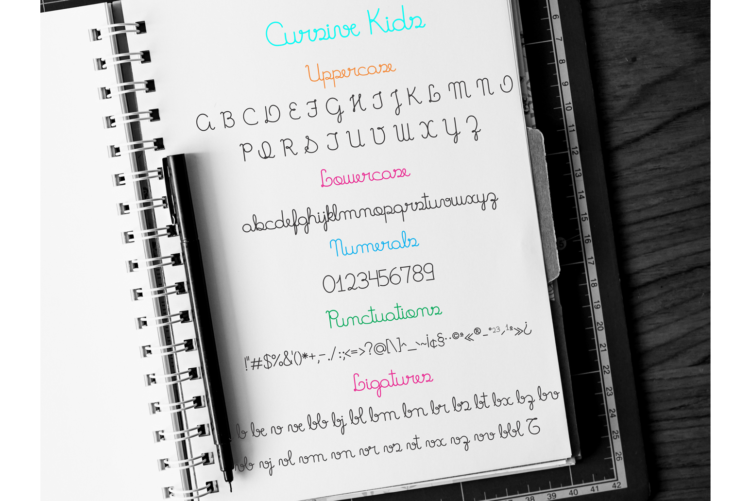 Fonts Cursive Kids and Cursive Kids Trace example image 6