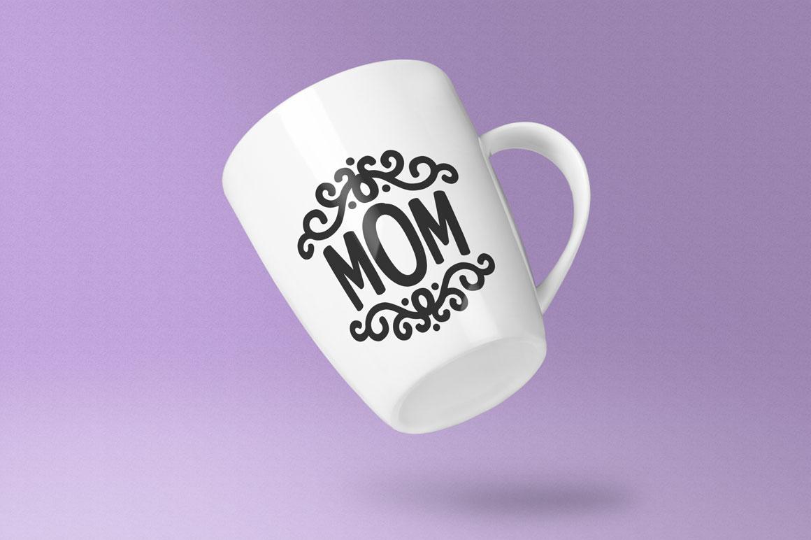 Candlepin monogram font: coffee cup mug mockup idea