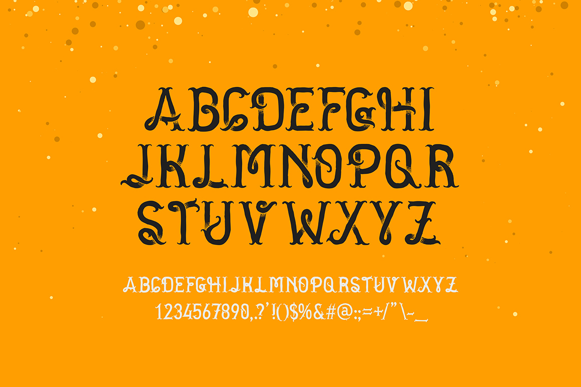 Golden dust typeface example image 2