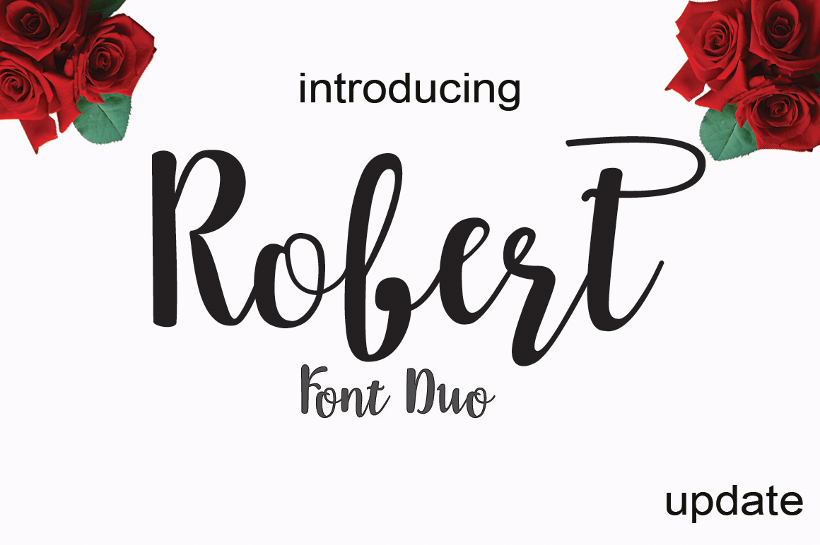 Robert update (font duo) example image 1