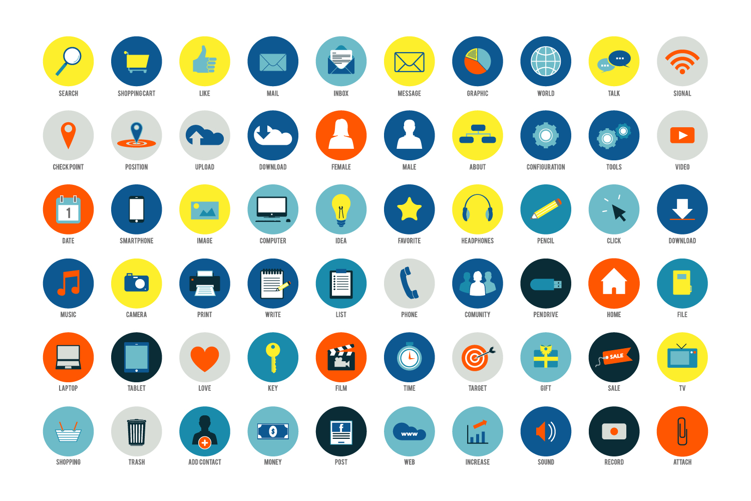 Social Media Icon Set example image 5
