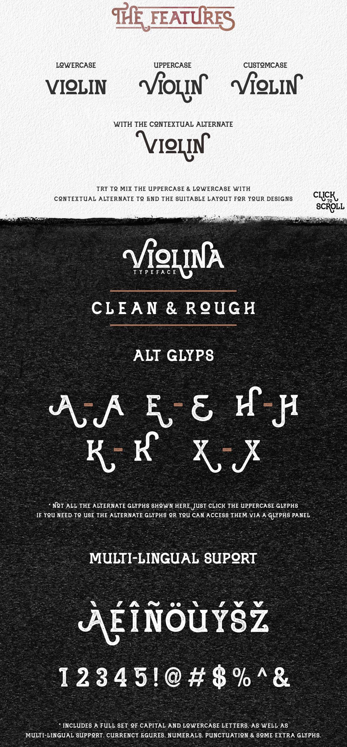 Violina typeface example image 2