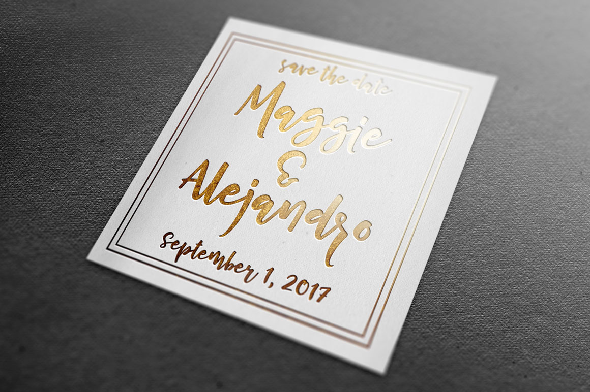 Cherry Cordial: wedding save the date card idea mockup