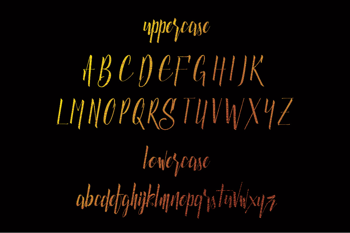 Luxurious Line Typeface example image 2