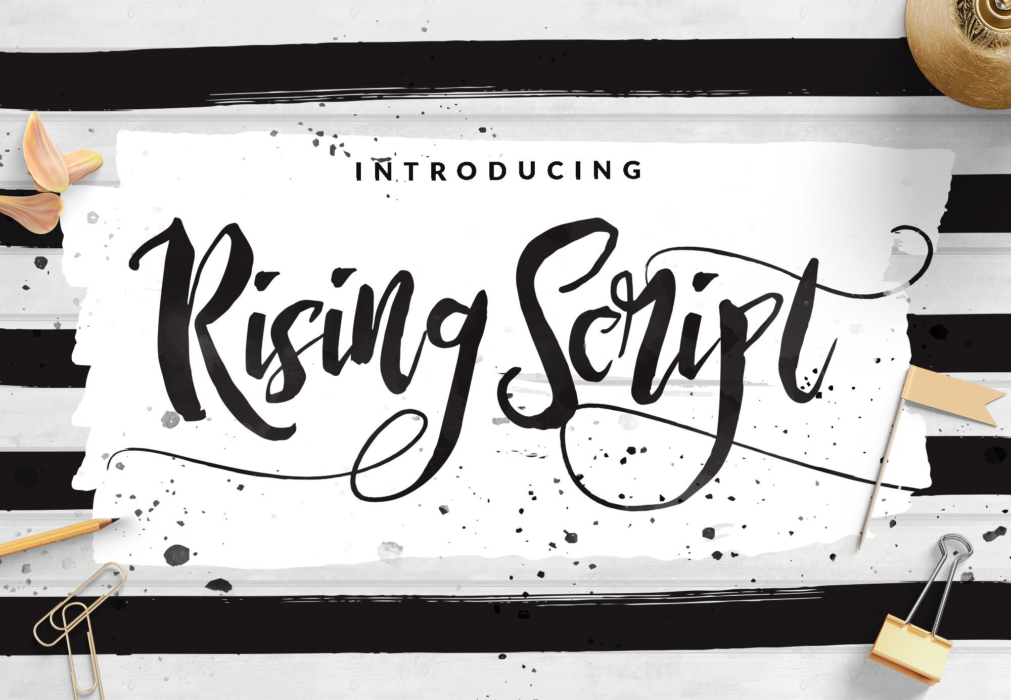 Rising Brush Script example image 1