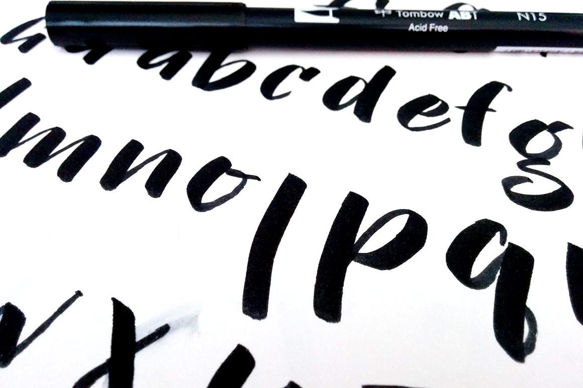 Gumption - original hand-lettered with brush pen