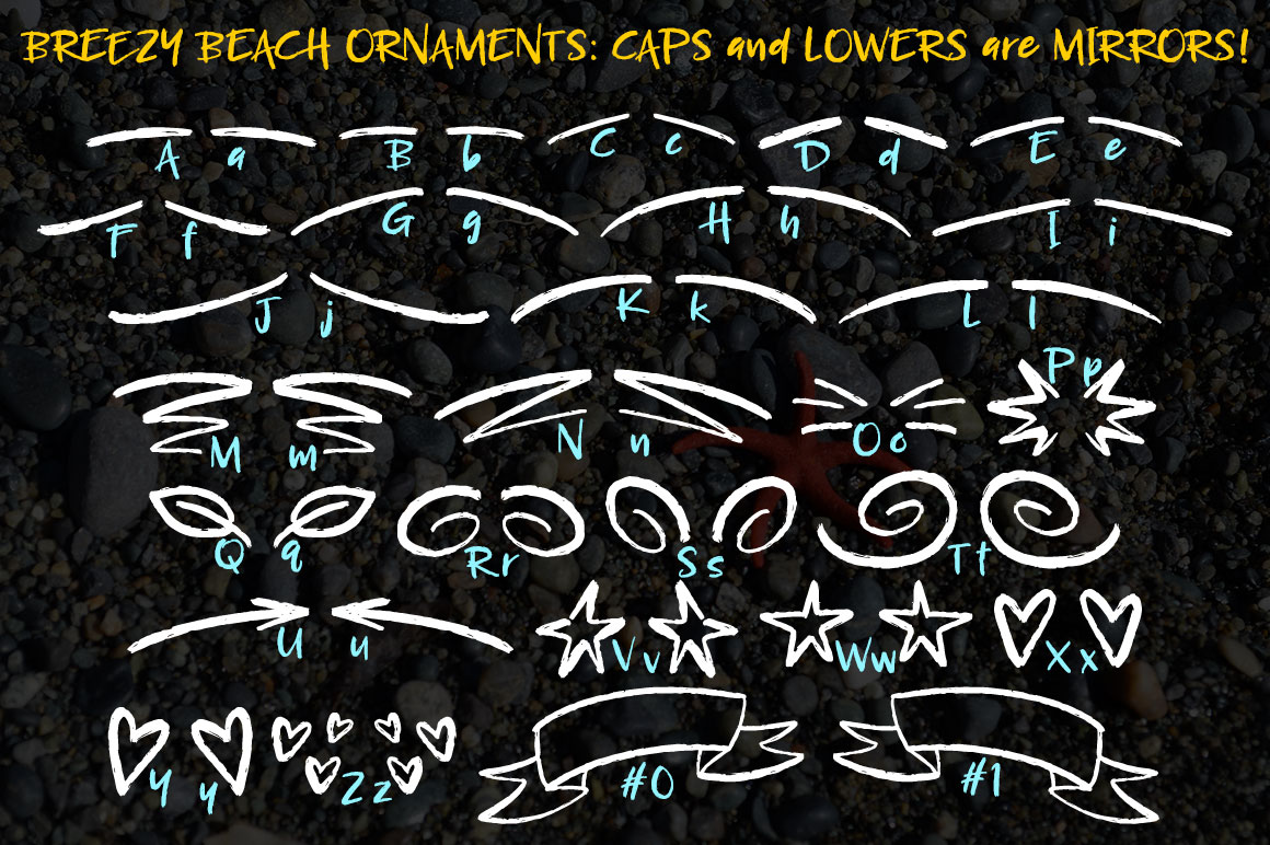 Breezy Beach: ornament mapping