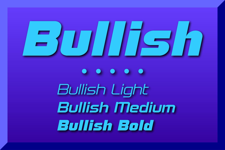 Bullish Medium Lower Case Oblique example image 1