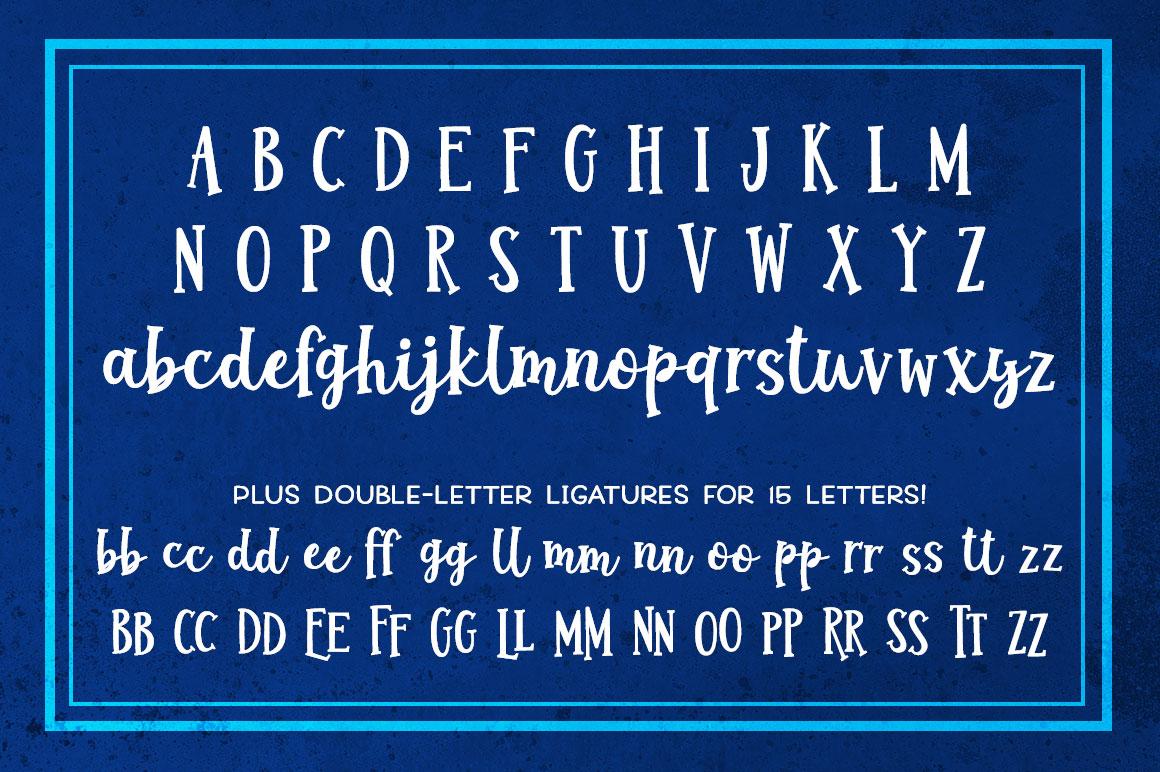 Jumbuck: alphabet and double-letter ligatures.