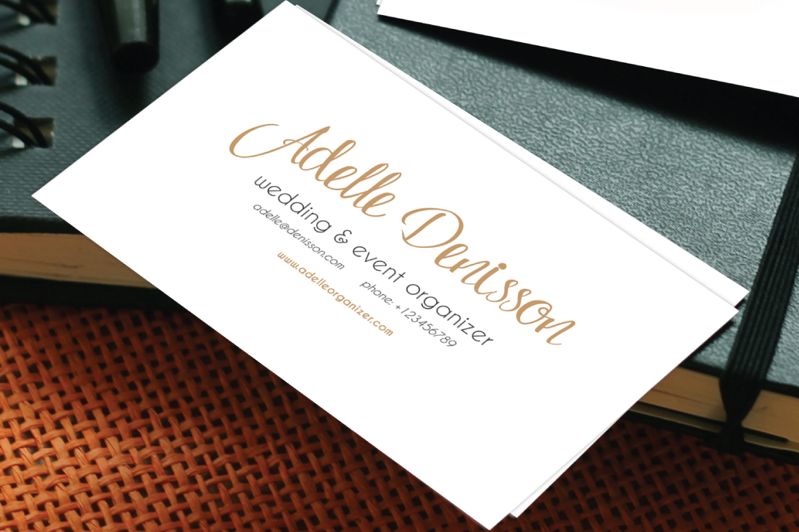Adelle Script Typeface example image 3