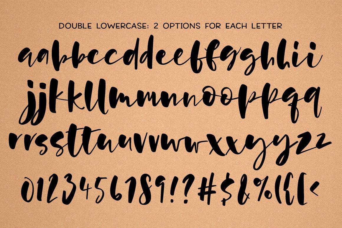 Hallsey - double lowercase alphabet