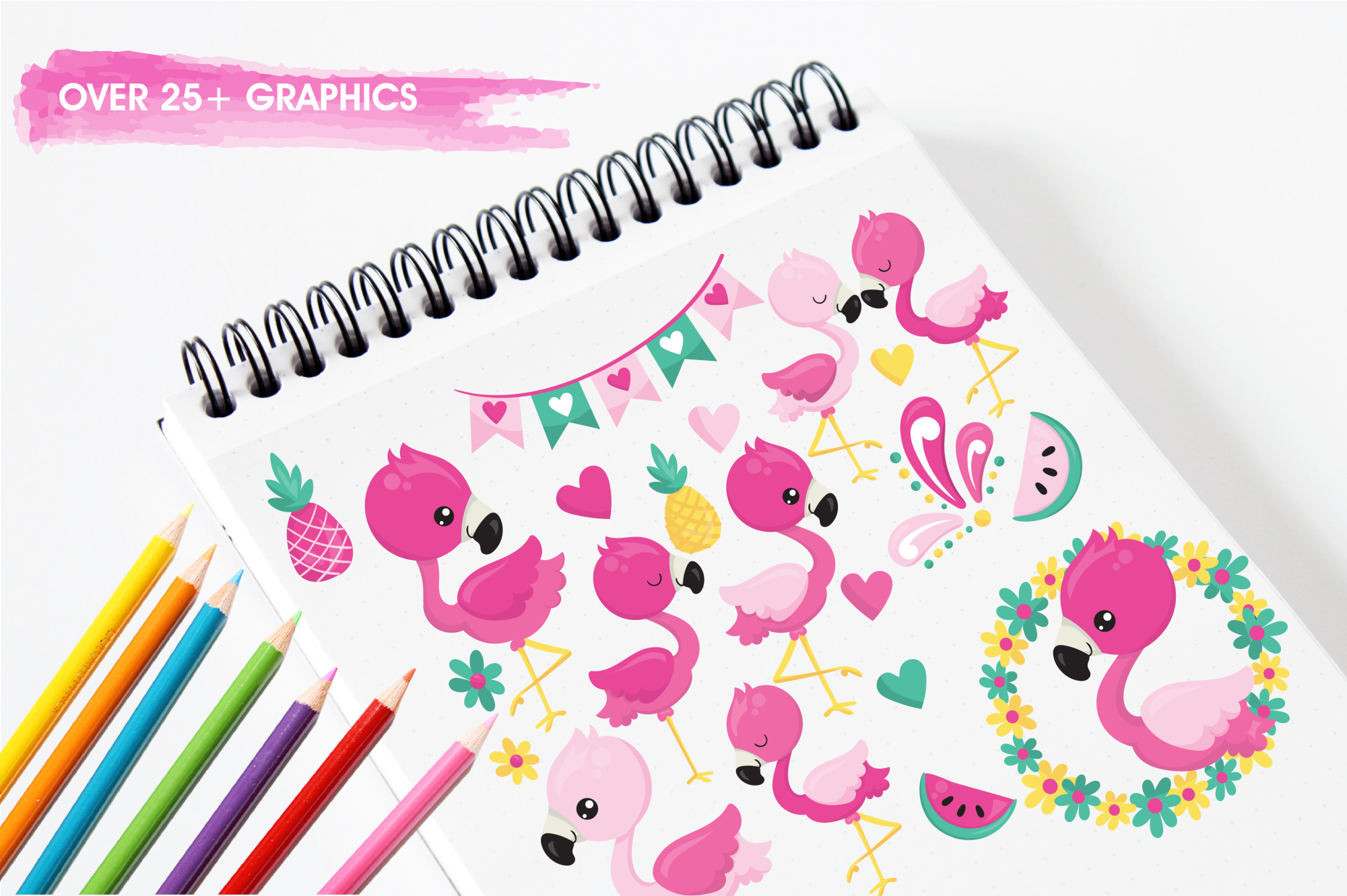 Flamingo graphics and illustrations example image 3