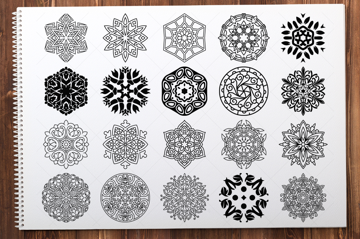 500 Vector Mandala Ornaments example image 8