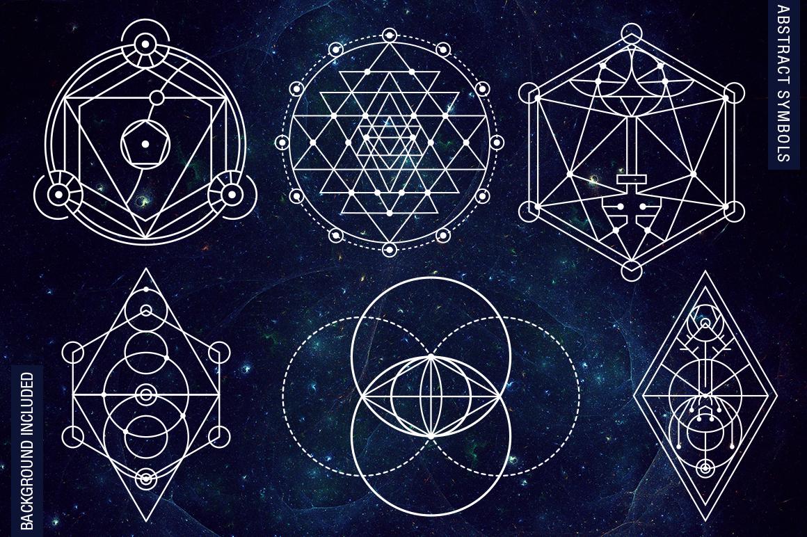 100 Sacred Geometry Symbols  example image 8
