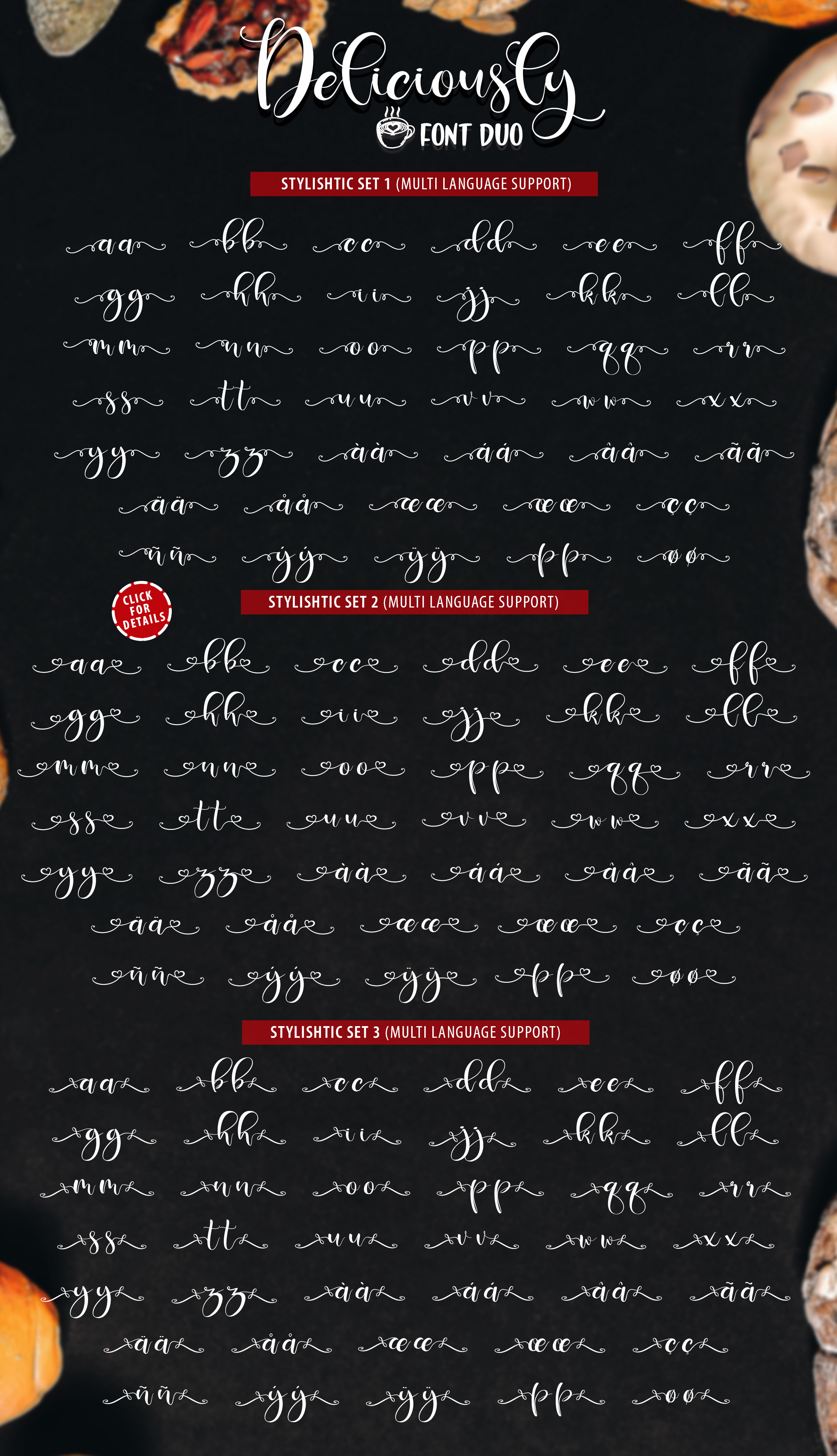 Deliciously Font Duo + Extras example image 10
