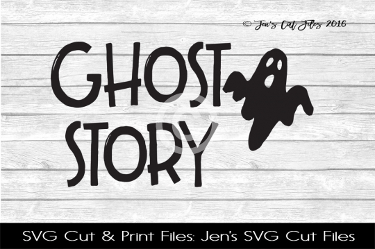 Ghost Story SVG Cut File example image 1