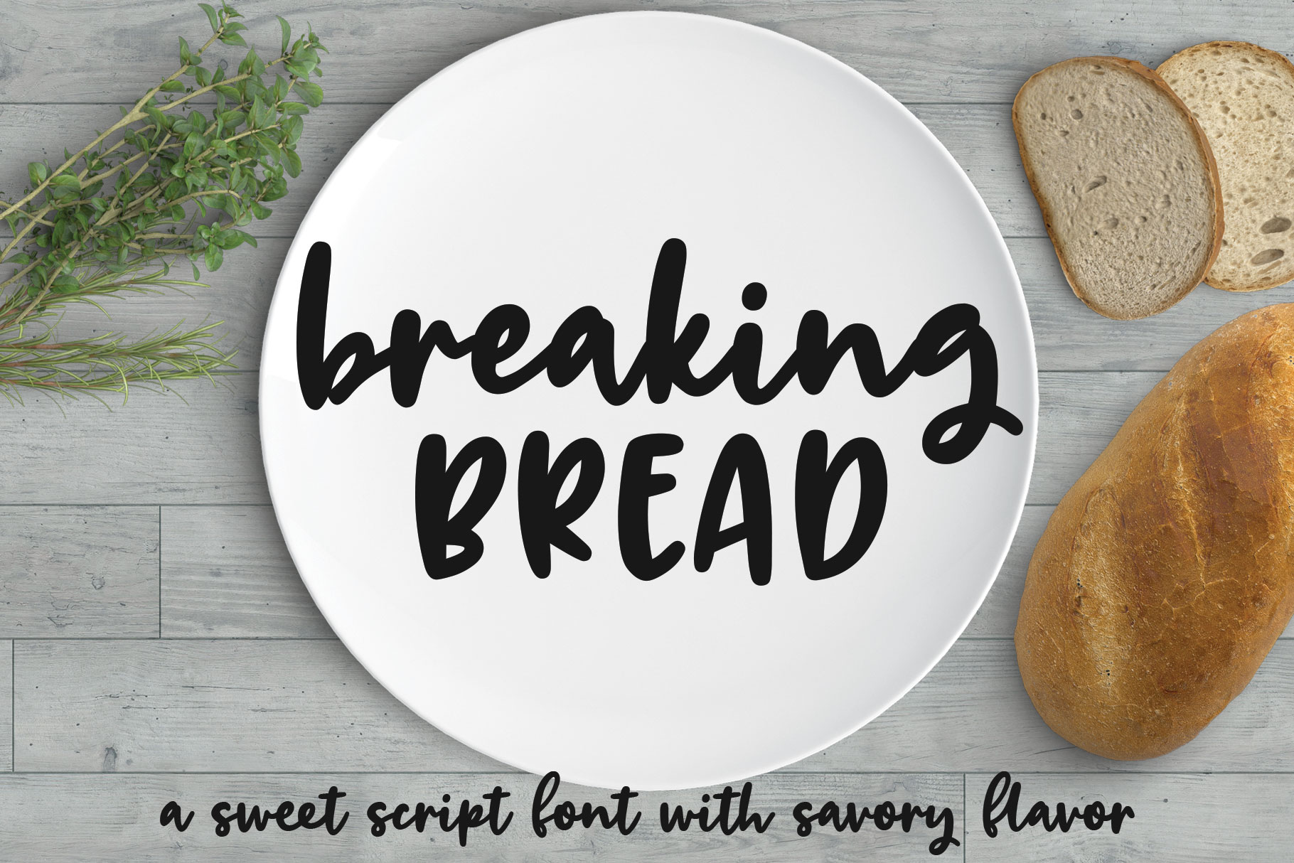 Breaking Bread: a chunky script font! example image 1