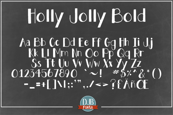 DJB Holly Sessions Font Bundle example image 10