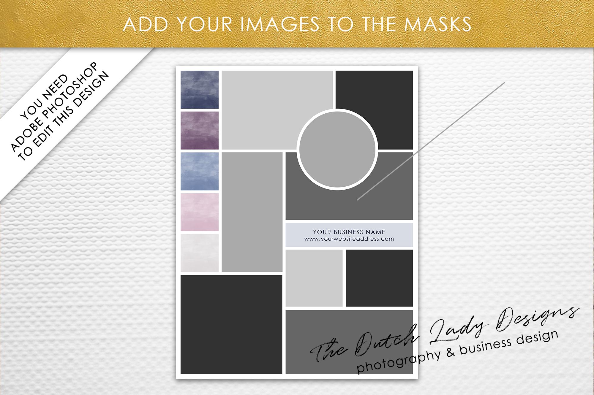 Mood & Vision Board Template for Adobe   Design Bundles