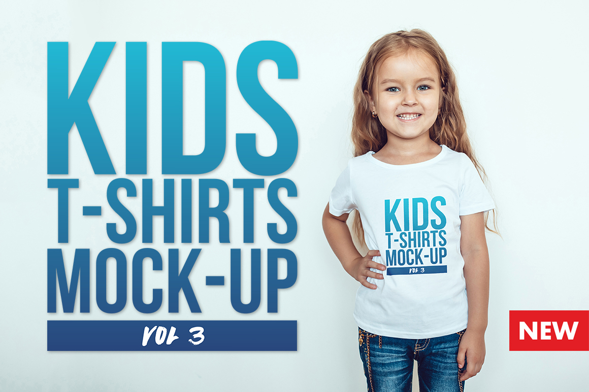 Kids T-Shirt Mock-Up Vol 3 example image 1