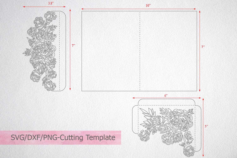 tri fold wedding invitation template,sv | Design Bundles