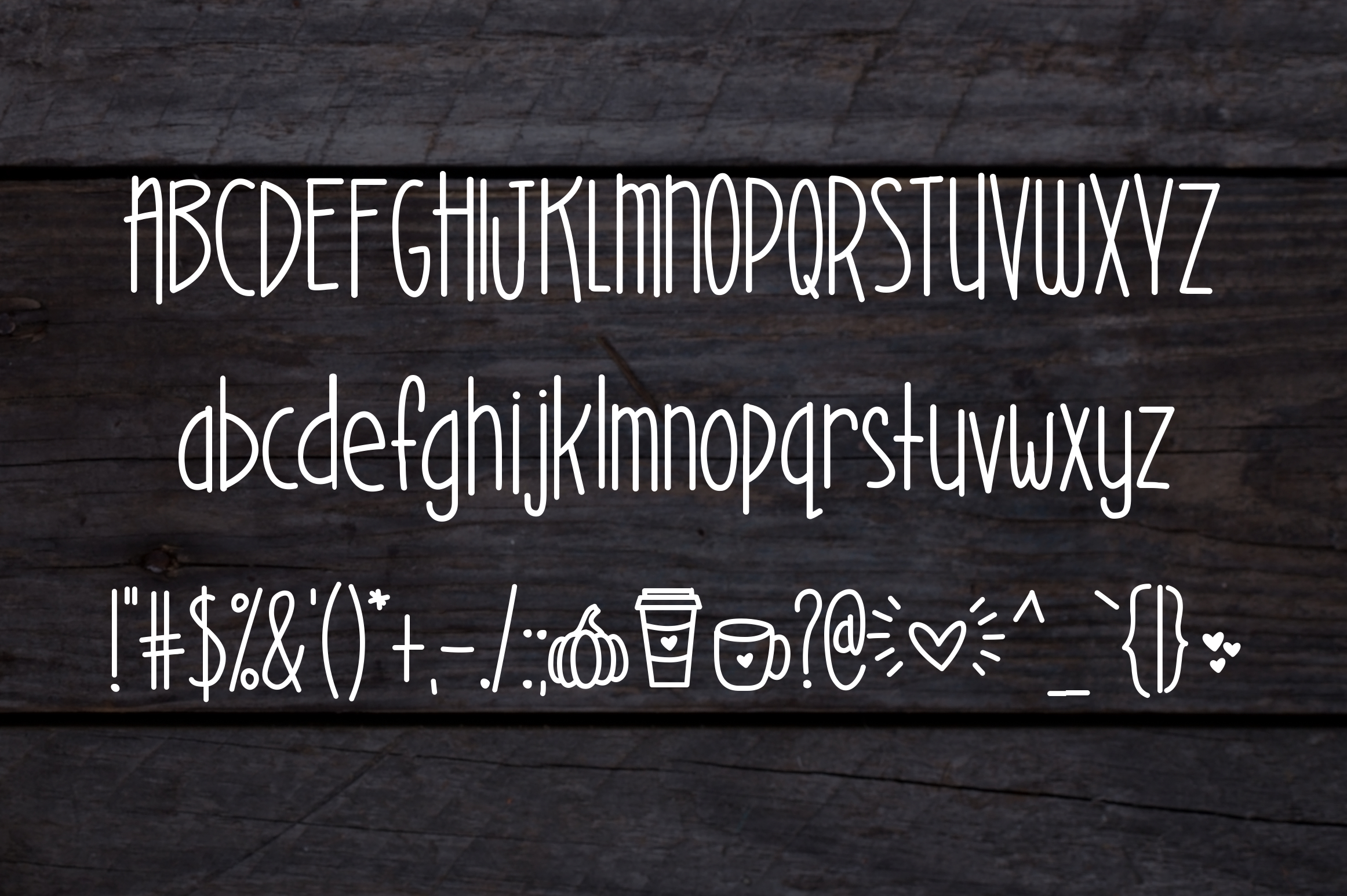 Pumpkin Spice a Warm Font example image 2