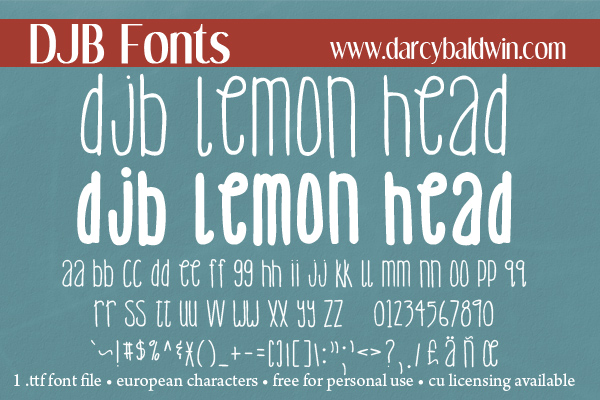 DJB Lemonhead Font Bundle example image 3