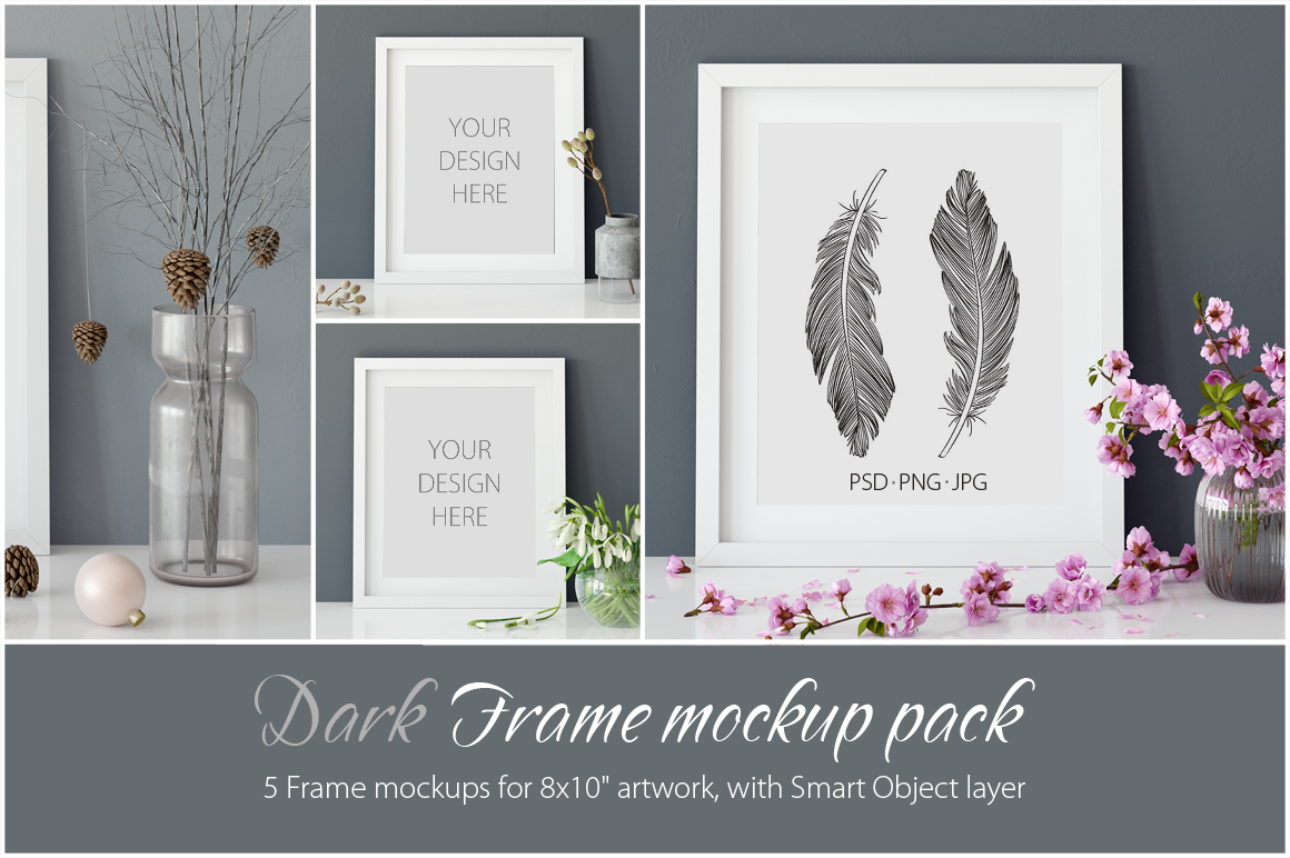 Frames Mockup 8x10 - PACK example image 1