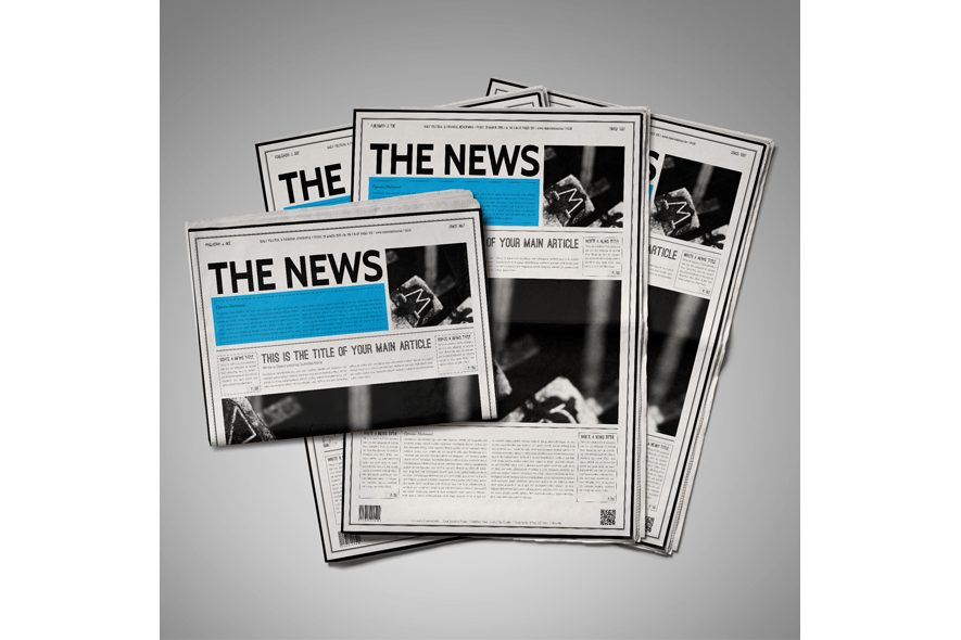 Classic Newspaper Template By Keboto Design Bundles