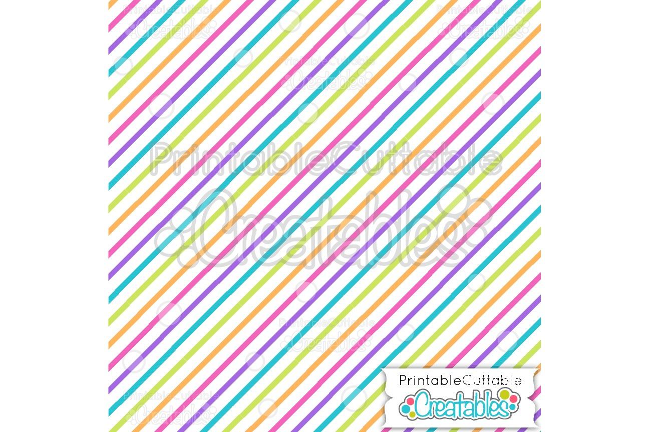 Diagonal Stripe Birthday Digital Paper & Seamless Pattern