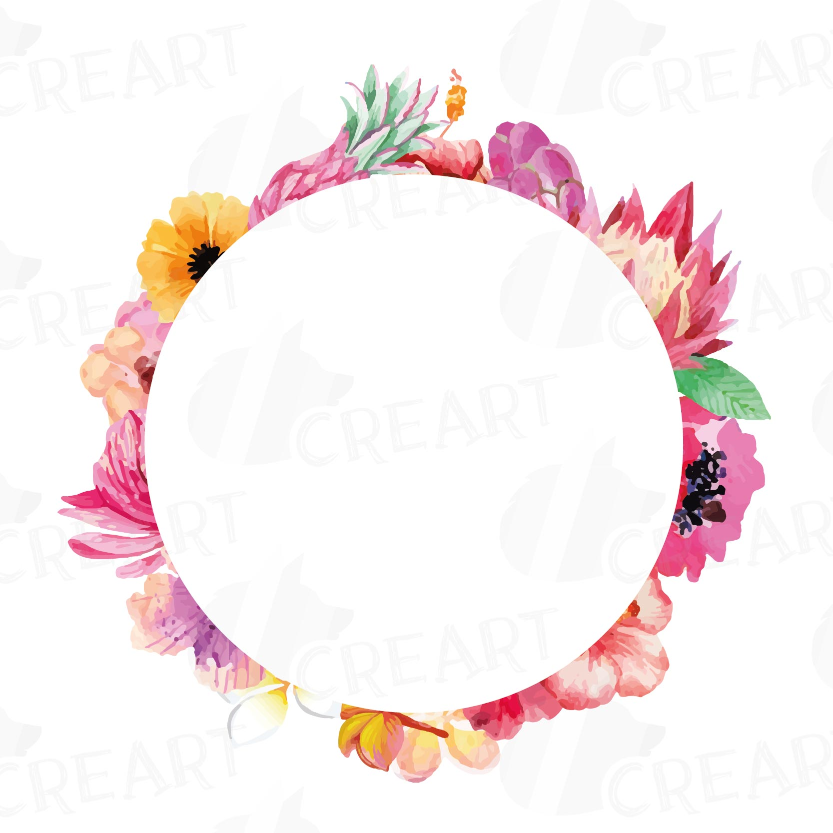 watercolor wild flowers clip art pack  design bundles valentine borders clip art free heart border clip art free
