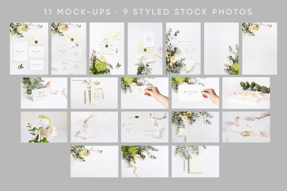 Spring Wedding mockups  & stock photo bundle example image 7