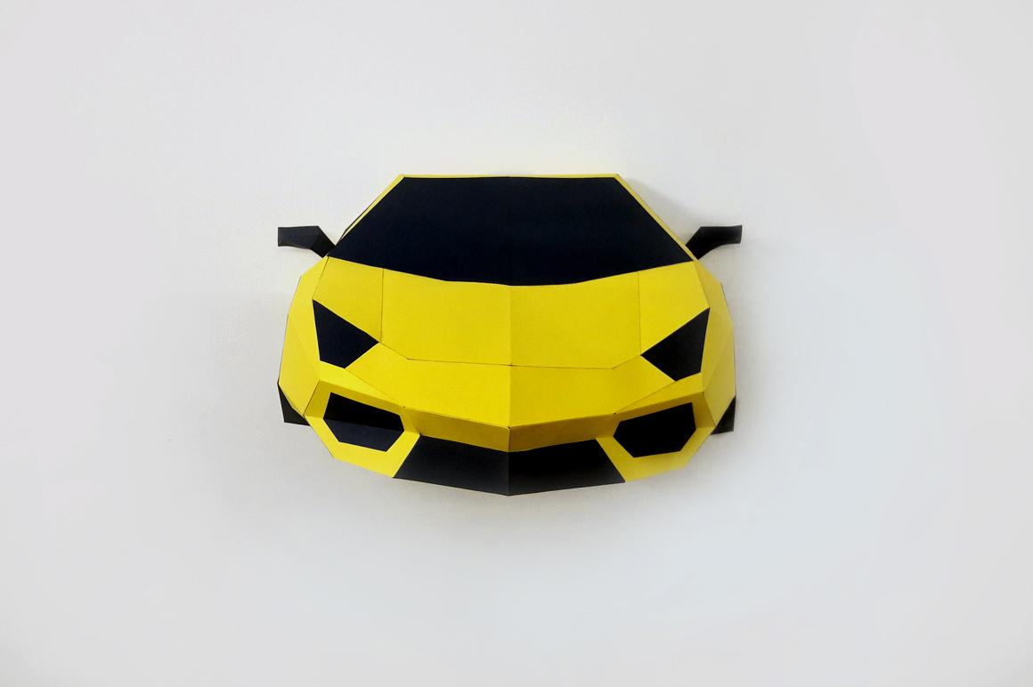 DIY Car Front - 3d papercraft by PAPER | Design Bundles