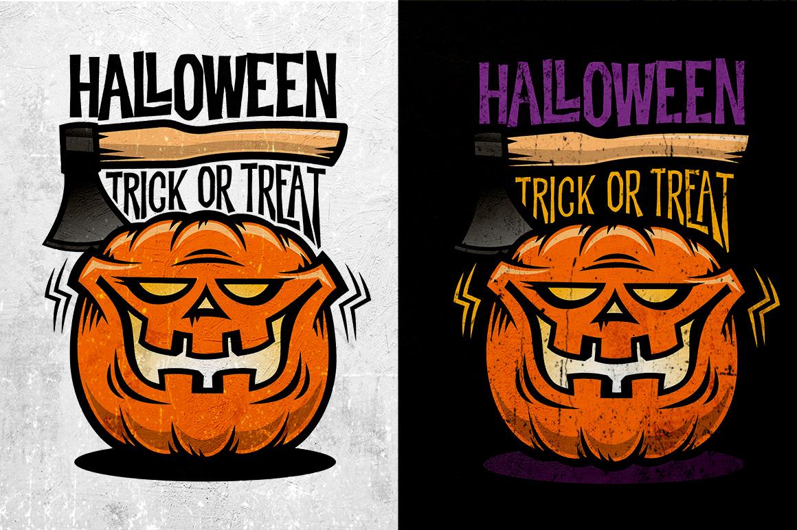 Halloween Pumking Logo Set example image 4