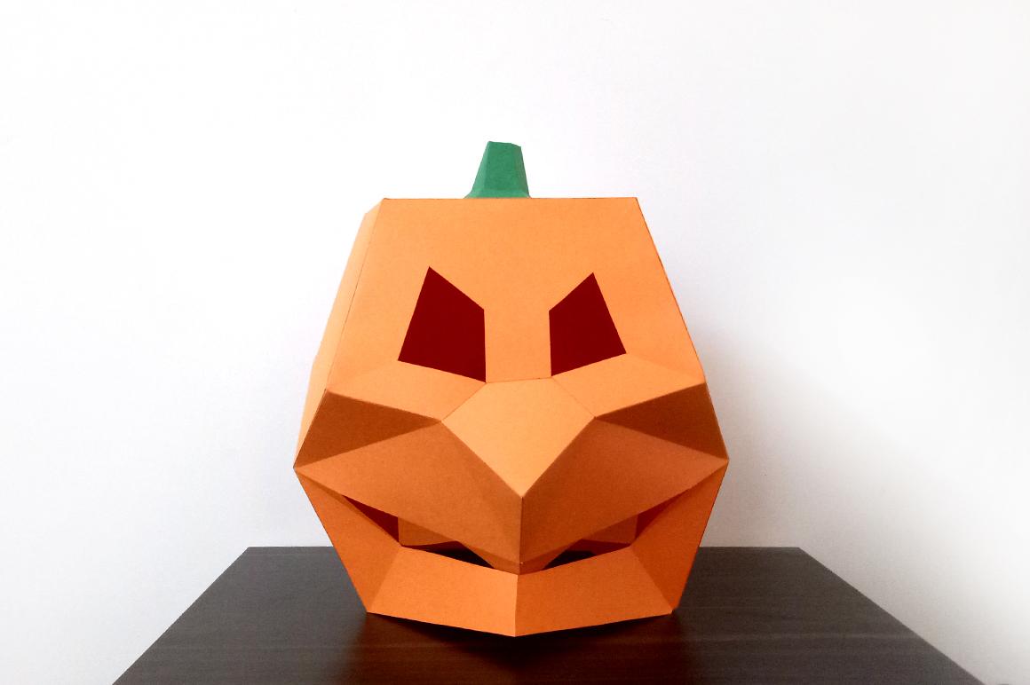 DIY Pumpkin Mask - 3d papercraft example image 6