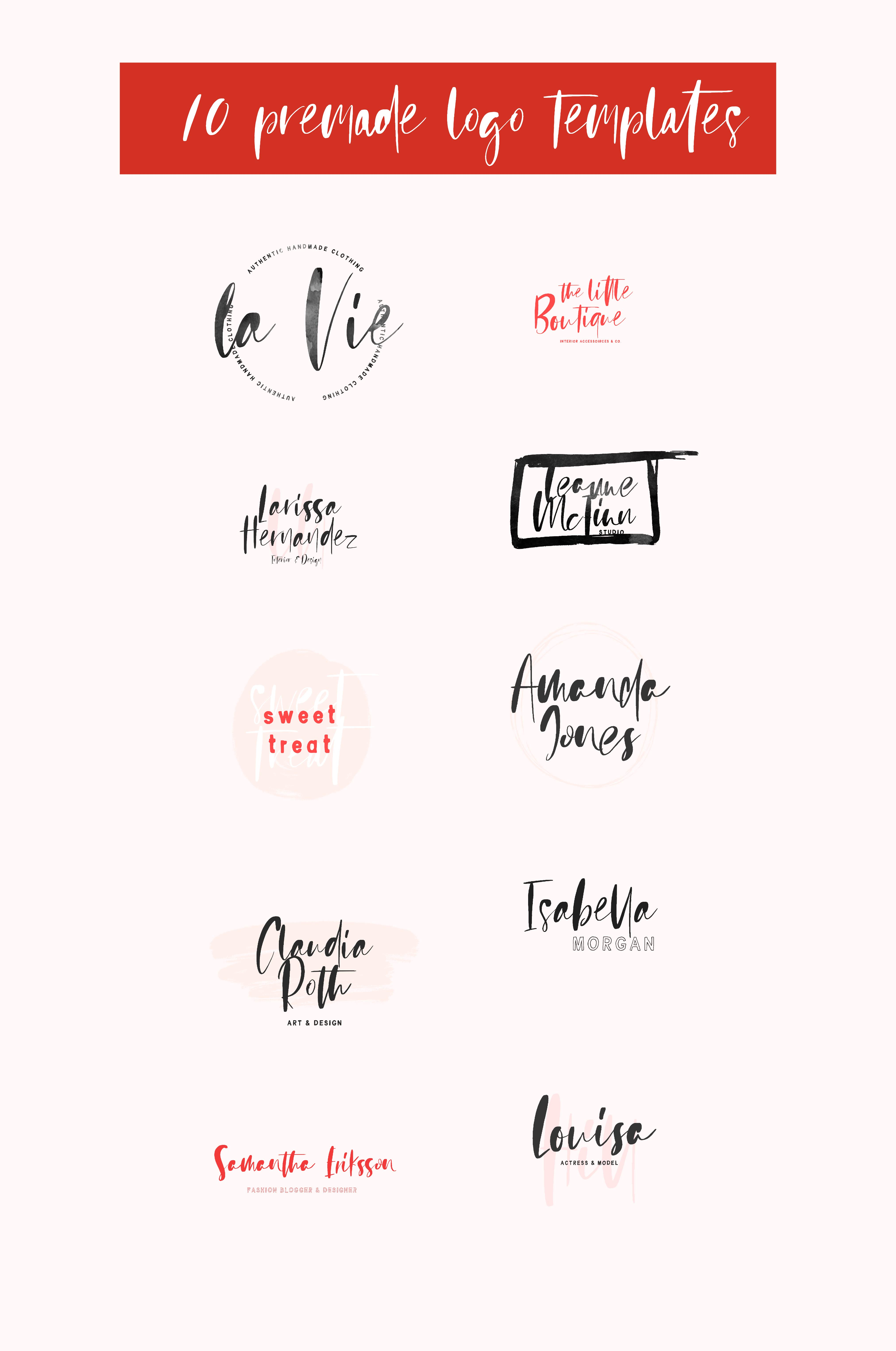 Sienna Signature Font + Extras example image 8